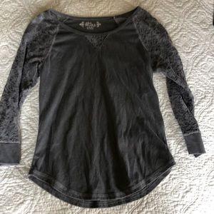 Kids size 10/12 gray lace shirt